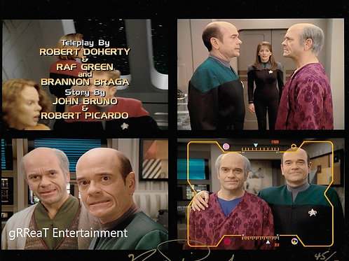 Robert Picardo autographed 10 in x 8 in. Photo