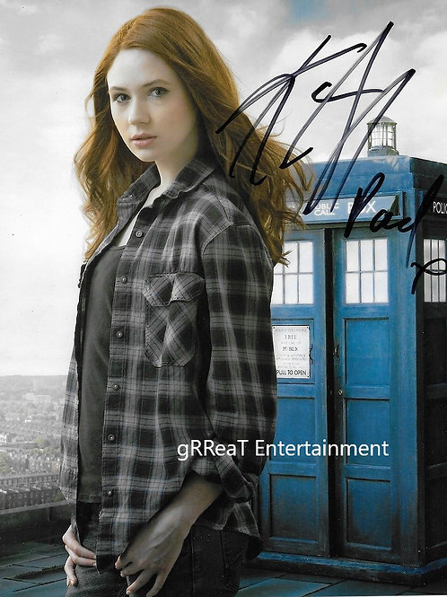 Karen Gillan autographed 8 in x 10 in. Photo