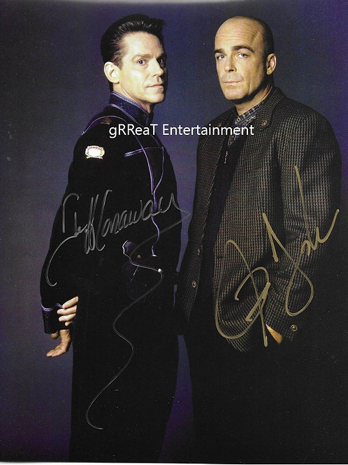 Jeff Conaway and Jerry Doyle autographed 8 in x 10 in photo