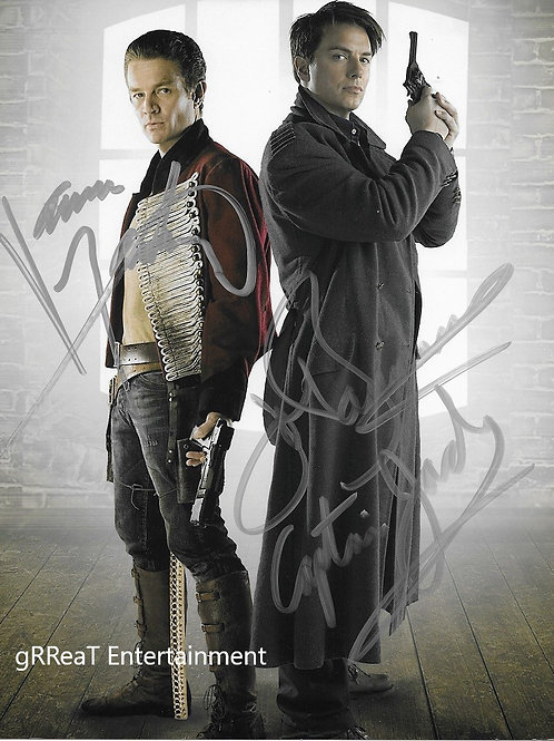 John Barrowman and James Marsters autographed 8 in x 10 in. Photo