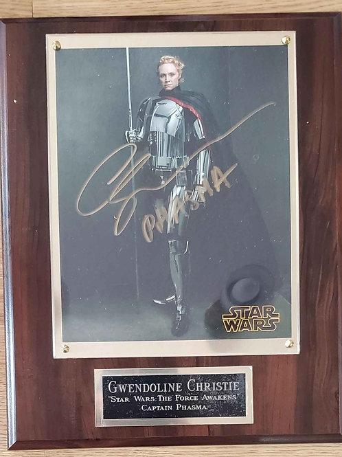 Autographed Gwendoline Christie Cherry Super Deluxe Plaque