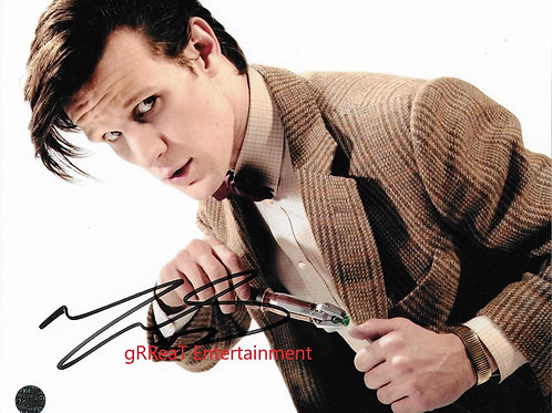 Matt Smith autographed 10 in x 8 in photo