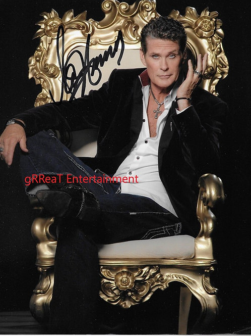 David Hasselhoff autographed 8 in x 10 in photo