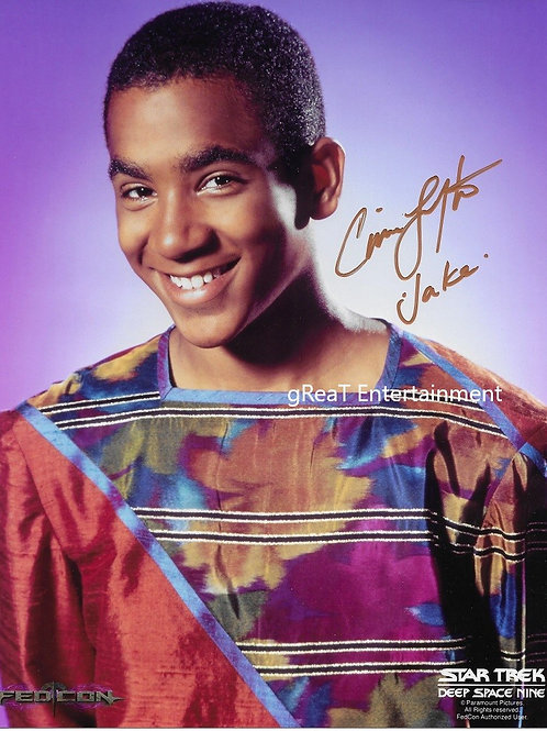 Cirroc Lofton autographed 8 in x 10 in photo