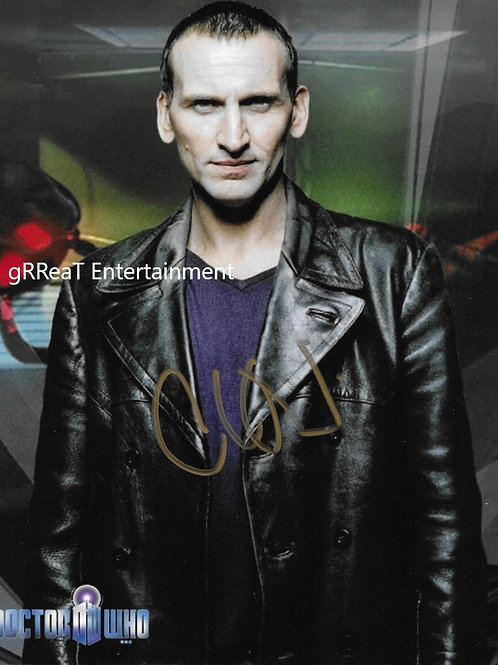 Chris Eccleston autographed 8 in x 10 in photo