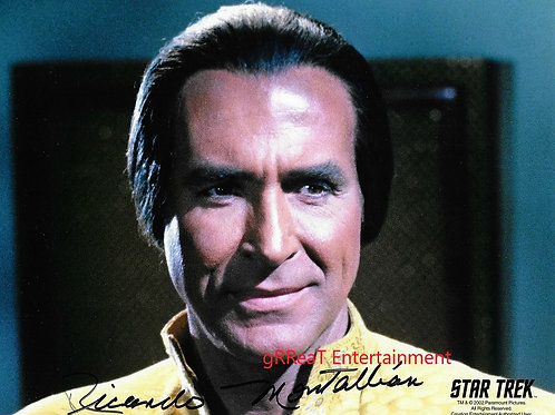 Ricardo Montalban autographed 10 in x 8 in photo