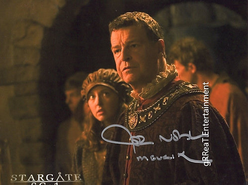 John Noble autographed 10 in x  8 in photo