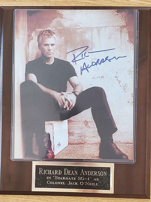 Autographed Richard Dean Anderson on a Cherry Standard Plus Plaque