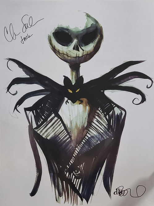 Jack Skellington autographed 18 in x 24 in poster