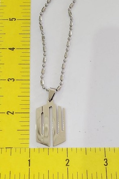 Doctor Who Initials Necklace - Metal