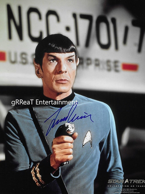 Leonard Nimoy autographed 8 in x 10 in photo