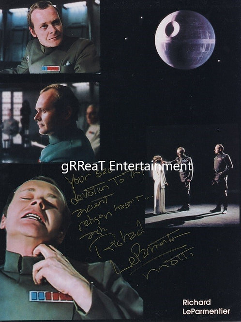 Richard LeParmentier autographed 8 in x 10 in photo