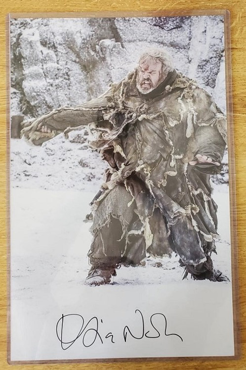 Kristian Nairn autographed 11 in x 17 in poster