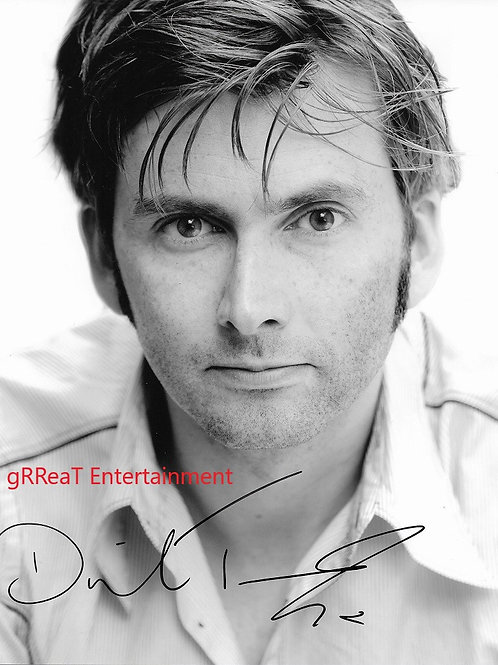 David Tennant autographed 8 in x 10 in photo