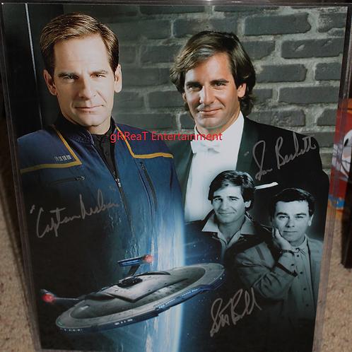 Scott Bakula autographed 12 in x 16 in photo