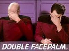Star Trek: Next Generation, Double Facepalm