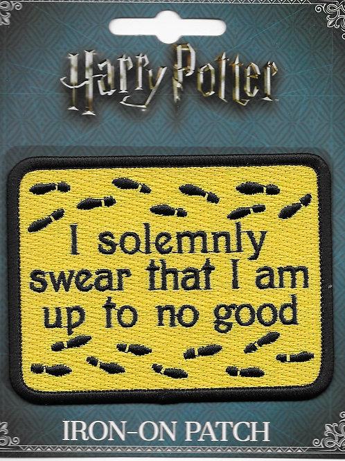 "Harry Potter ""I Solemnly Swear"" Licensed Patch"