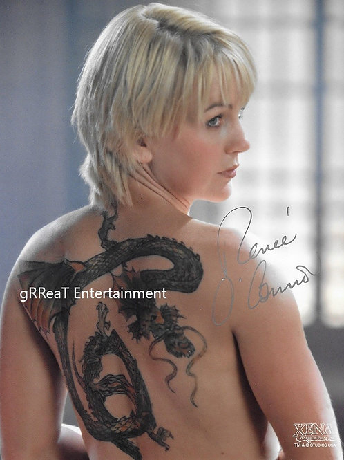 Renee O'Connor autographed 8 in x 10 in photo
