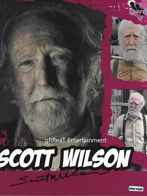 Scott Wilson autographed 8 in x 10 in photo