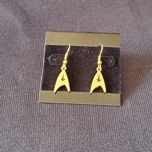 Star Trek: TOS Command Emblem Gold Colored Earrings