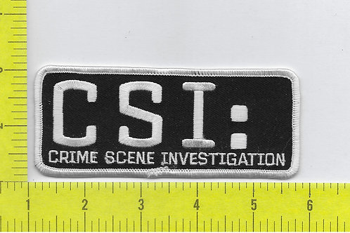 CSI TV Series Name Logo Patch