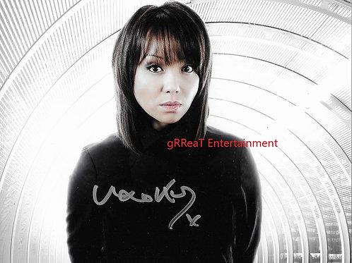 Naoko Mori autographed 10 in x 8 in photo