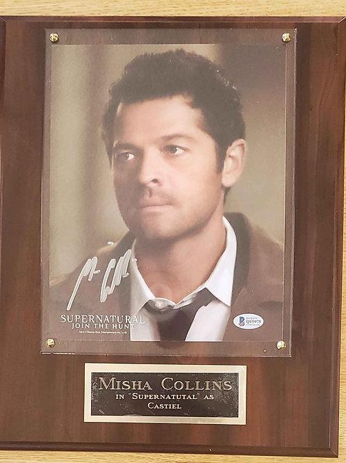 Autographed Misha Collins Cherry  Deluxe Plus Plaque