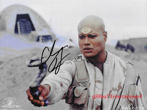Christopher Judge autographed 10 in x 8 in photo