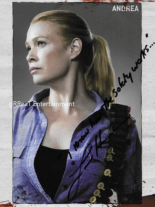 Laurie Holden autographed 8 in x 10 in photo