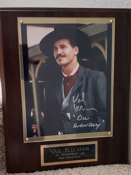 Autographed Val Kilmer Cherry Super Deluxe Plaqu