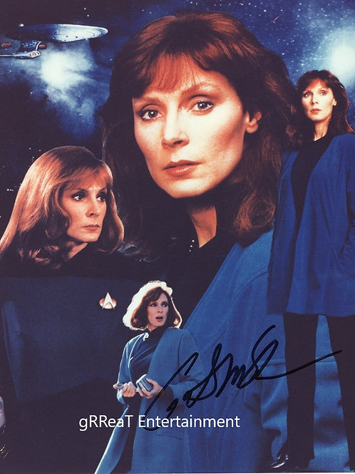 Gates McFadden autographed 8 in x 10 in photo
