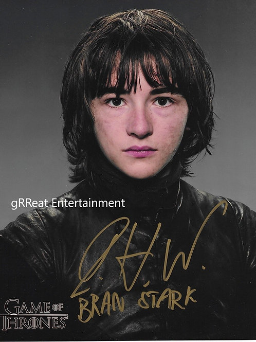 Isaac Hempstead-Wright autographed 8 in x 10 in. Photo