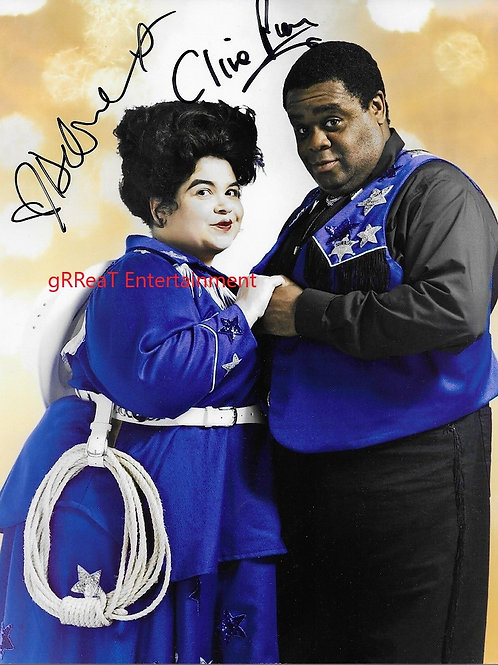 Clive Rowe and Debbie Chazen autographed 8 in x 10 in photo