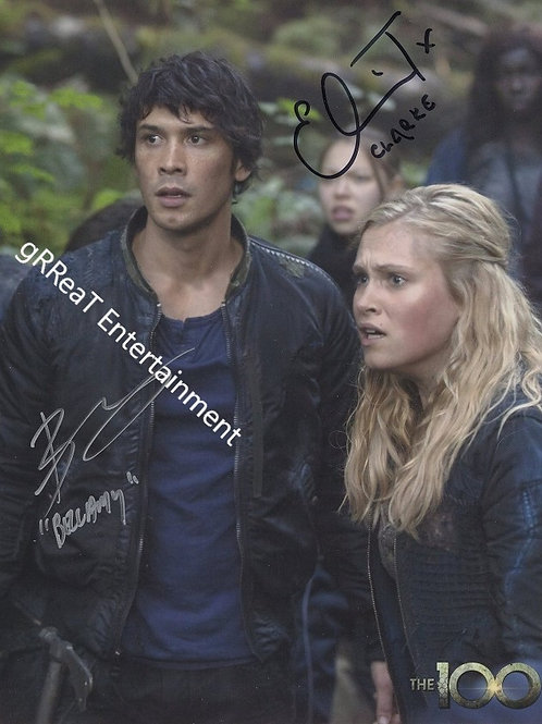 Bob Morley and Eliza Taylor autographed 8 in x 10 in photo