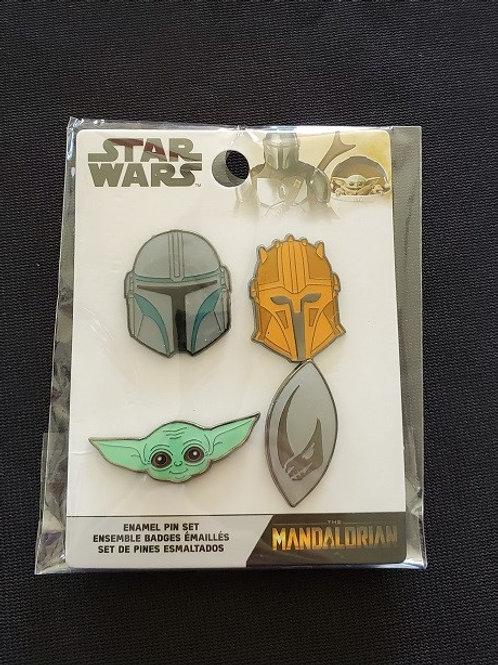 Star Wars: Mandalorian 4 pin set LINCENSED