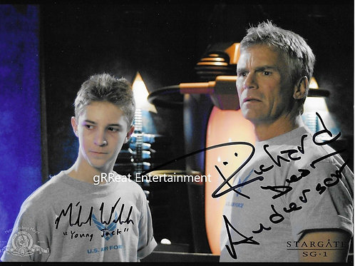 Michael Walsh and Richard Dean Anderson Autographed 10in x 8in. Photo