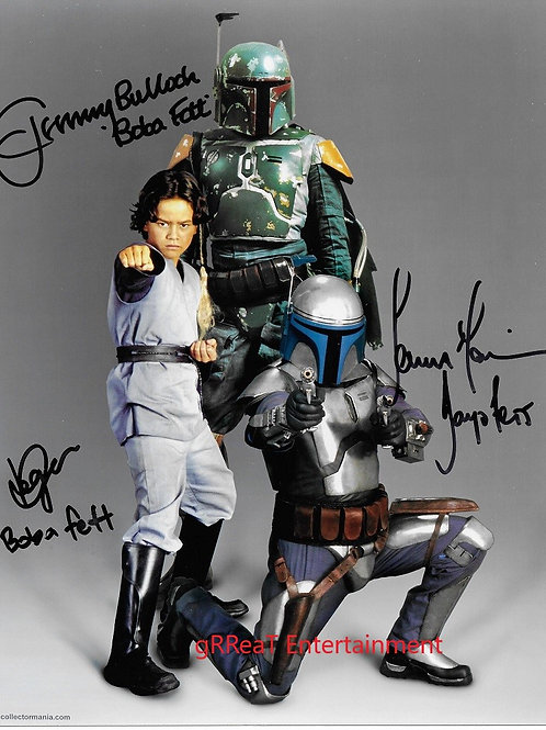 The Fett's autographed 8 in x 10 in. Photo
