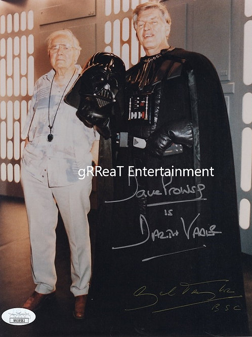 Dave Prowse and Gil Taylor autographed 8 in x 10 in photo