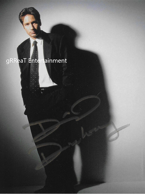 David Duchovny autographed 8 in x 10 in photo