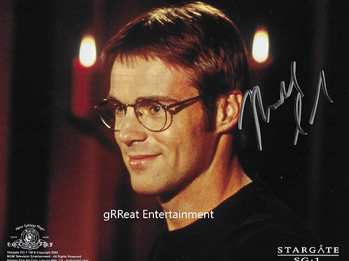 Michael Shanks autographed 10 in x 8 in photo