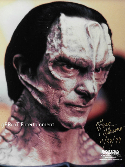 Marc Alaimo autographed 8 in x 10 in photo