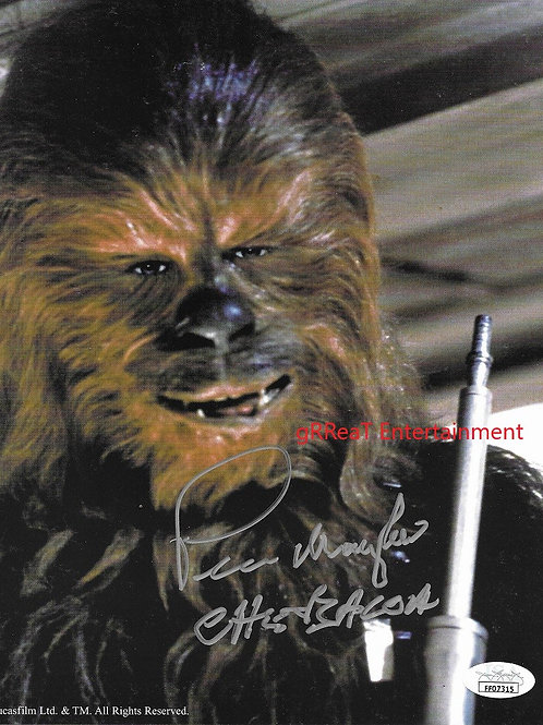 Peter Mayhew autographed 8 in x 10 in photo