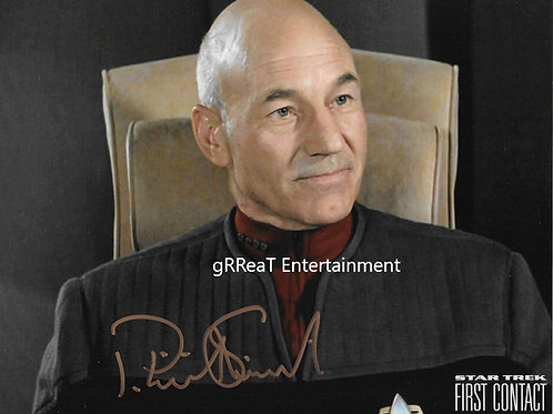 Patrick Stewart Autographed 10 in x 8 in. Photo
