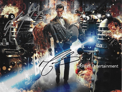 Karen Gillan and Matt Smith autographed 10 in x 8 in. Photo