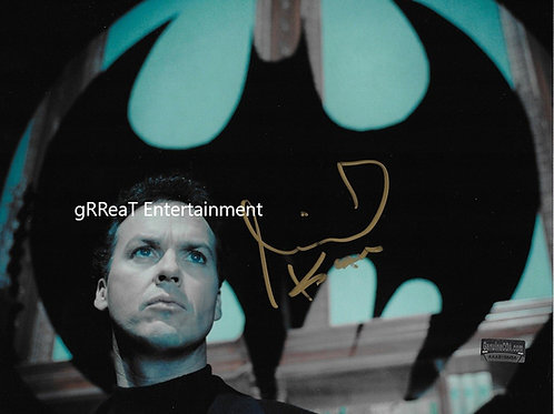 Michael Keaton autographed 10 in x 8 in. Photo