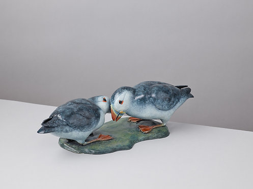 BILLING PAIR OF PUFFINS
