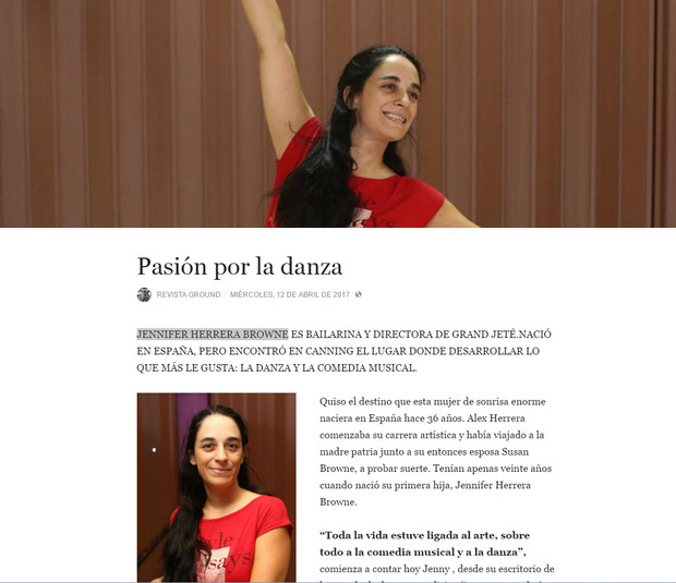 Jennifer Herrera Browne en Revista Ground