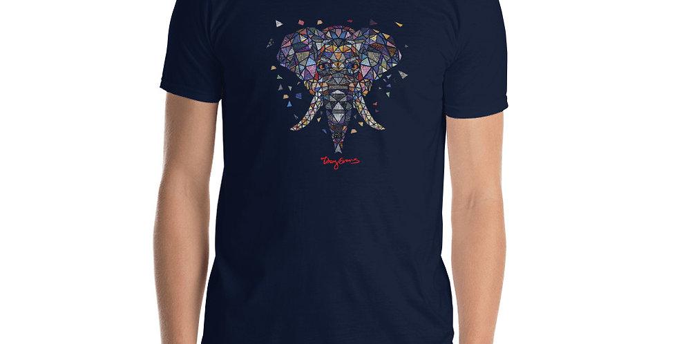 Geometric Elephant Short-Sleeve Unisex T-Shirt