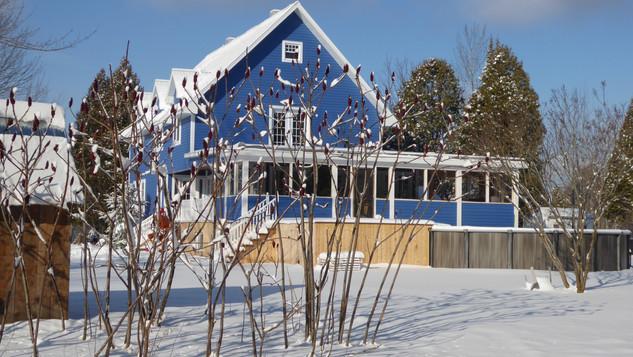 La maison Bleucancour dans l'hiver