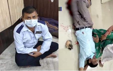 मास्क नही लगाने पर बैंक ऑफ बड़ौदा के गार्ड ने ग्राहक को मारी गोली, पुलिस ने लिया हिरासत में
